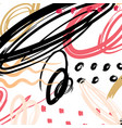 abstract pattern brush stroke background vector image vector image