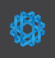 Abstract polygon logo design vector image