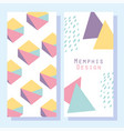 abstract shapes 80s memphis geometric style vector image vector image