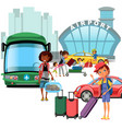airport transfer public transport like car and vector image vector image