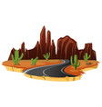 an isolated desert road vector image vector image