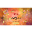 autumn banner with frame vector image vector image