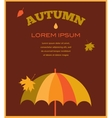 autumn time umbrela with falling leafs vector image vector image