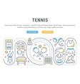 banner tennis vector image