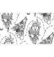 beautiful seamless pattern romantic vector image