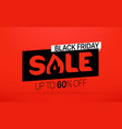 black friday sale banner season sale offer up to vector image