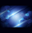 blue abstract technology digital hi tech concept vector image vector image