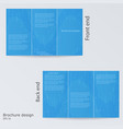 blue brochure template design layout brochures vector image vector image