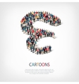 cartoons people shape vector image vector image