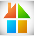 colorful home house icons logos to real estate vector image vector image