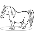 coloring page of funny farm pony horse vector image vector image
