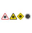 danger symbol coronavirus signs vector image