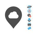 fog cloud marker icon with free bonus vector image vector image