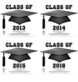 Graduation classes from 2013 to 2016 vector image vector image