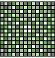 Green stained-glass window seamless pattern vector image