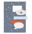 Greeting card with frames and design elements for vector image vector image
