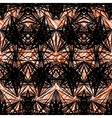 Hand drawn geometric pattern with black lines vector image