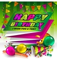Happy birthday greeting card Text on folded vector image vector image