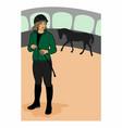 horsewoman vector image