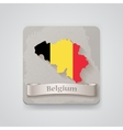 Icon of Belgium map with flag vector image