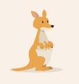 kangaroo with baby kangaroo vector image