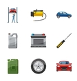 Maintenance car icons set cartoon style vector image vector image