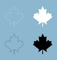 maple leaf the black and white color icon vector image vector image