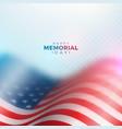 memorial day usa design template vector image vector image