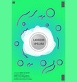 memphis style book design collection of colorful vector image