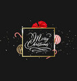 merry christmas hand lettering in gold with vector image vector image