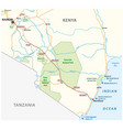 mombasa-nairobi railway map in kenya vector image vector image