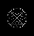 occult symbol- order nine angles symbol in vector image vector image
