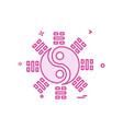 peace icon design vector image vector image