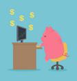 pig cartoon character works computer vector image