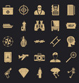 police icons set simple style vector image vector image