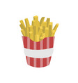 potatoe french fries food cafe vector image