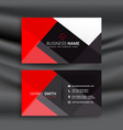 red and black professional business card vector image vector image