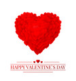 red valentines heart valentines composition of vector image vector image