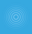 ripple effect top view transparent water drop rin vector image vector image