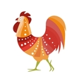 Rooster Farm Bird Colored In Artictic Modern Style vector image