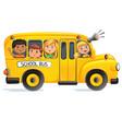 school bus with kids vector image vector image