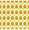 seamless pattern of big and small easter eggs vector image