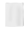 Sheet of white paper isolated on white background vector image