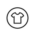 shirt icon on a white background vector image vector image