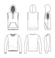 sleeveless hoody and tee vector image vector image