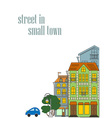 small town vector image