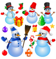 snowman Christmas vector image vector image