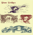 stone bridges set vector image vector image