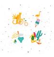 summer vivid compositions vector image