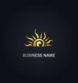 sun shine abstract gold logo vector image vector image